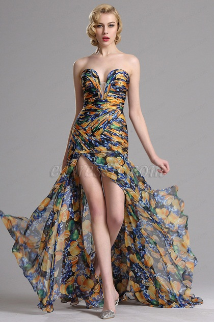 eDressit Floral Strapless Sweetheart Prom Evening Dress (X00120547)