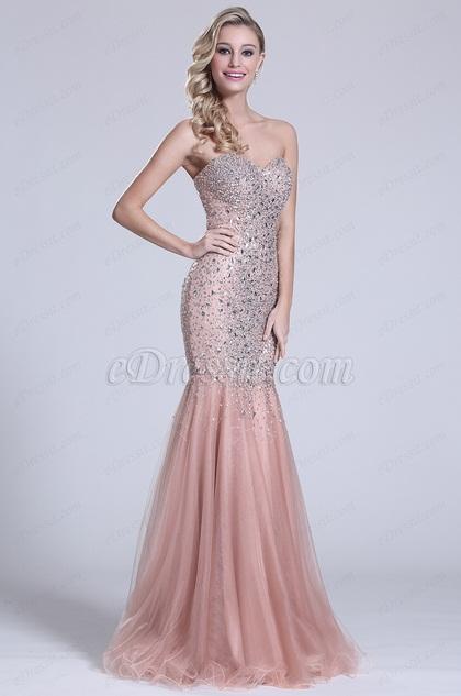 eDressit Strapless Sweetheart Beaded Prom Gown (C36151146)