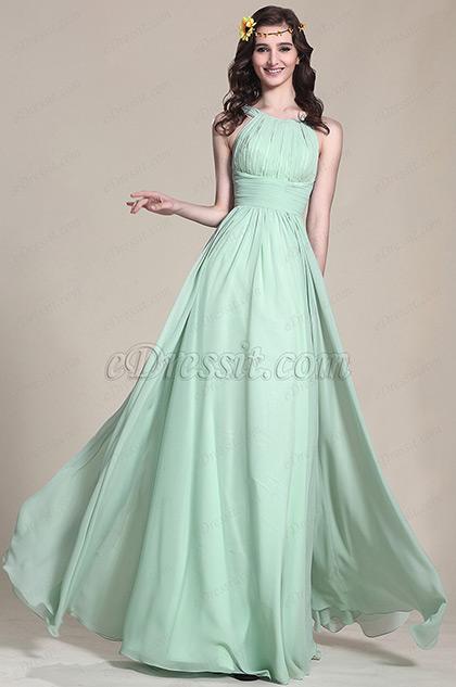 eDressit Halter Neck Mint Evening Dress Bridesmaid Dress (07153904)