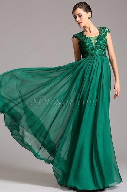 А Силуэт Формальное Вечернее Платье с Кружевом (02160904)