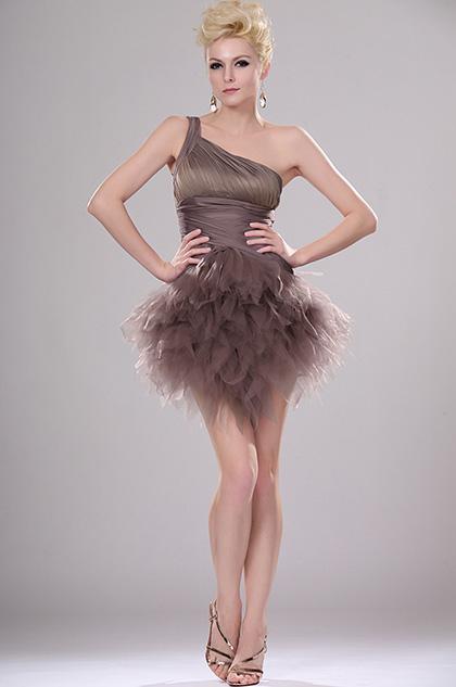 Stylish One Shoulder Cocktail Dress (H04113020)