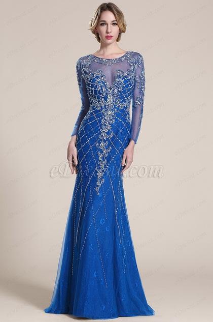 eDressit Блестящее Синее Выпускное Платье (C36152705)