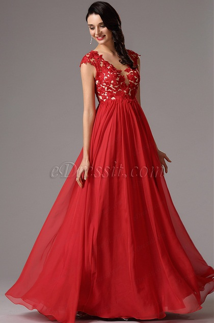 Red Lace Maternity Dress