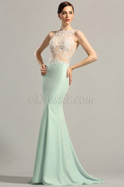 eDressit Sleeveless Lace Applique Evening Gown Formal Dress (00154904)