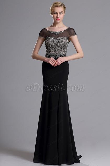 eDressit Illusion Neckline Beaded Mermaid Prom Evening Dress (02163600)