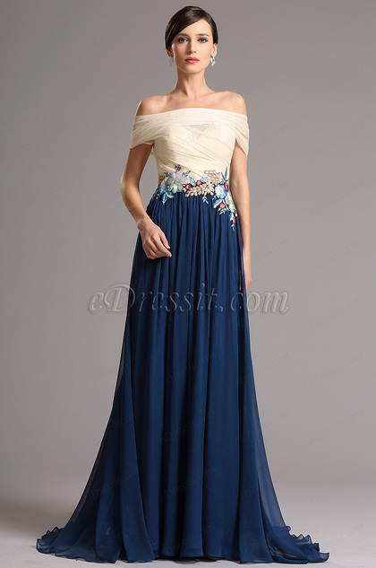 eDressit Off Shoulder Bodice Embroidery Applique Prom Dress (02161205)