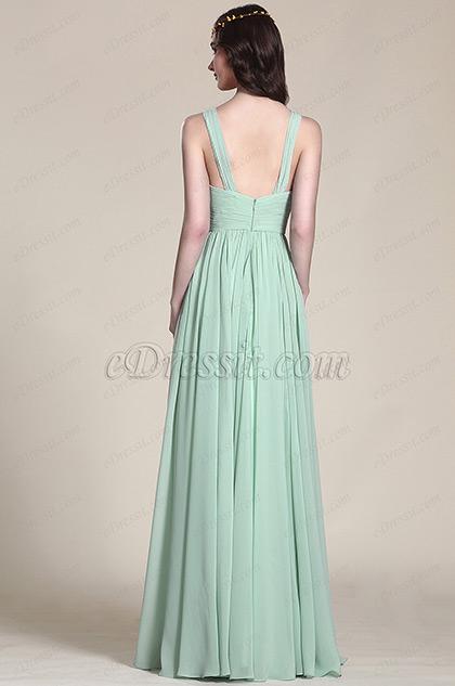 Edressit robe demoiselle d 39 honneur vert menthe sans for Robes de demoiselle d honneur aqua pour mariage sur la plage