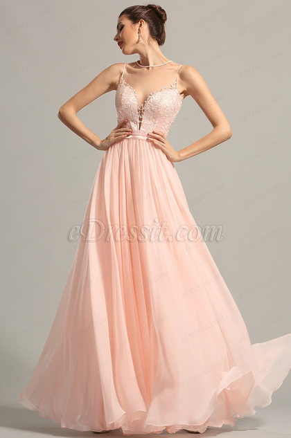 eDressit Sleeveless Pink Evening Dress Prom Dress (00155001)