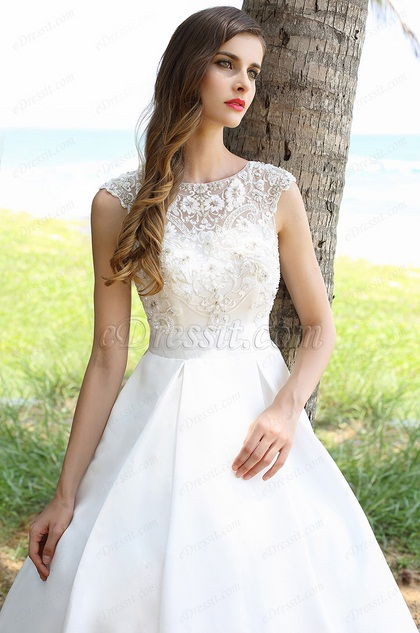 Sleeveless Beaded Embroidery Ball Gown Bridal Dress