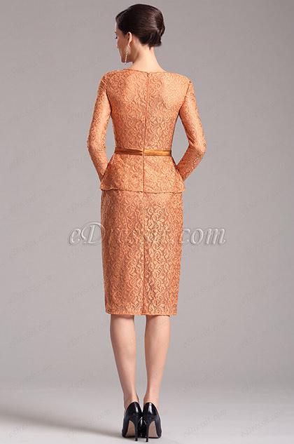Robe de cocktail orange en dentelle pour mariage x26150310 for Robe de cocktail en dentelle pour mariage