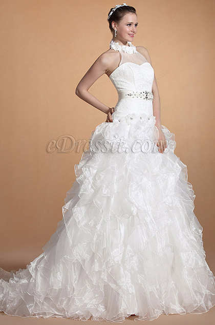 robe de mari e licou col bijoux floraux c37143907