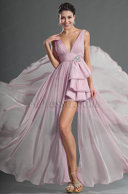 Gorgeous Plunging V-Cut Evening Dress (H00127814)
