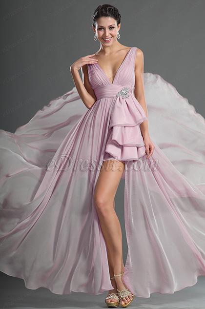 Gorgeous Plunging V-Cut Evening Dress (H00127814)