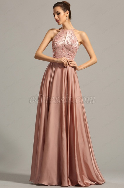 eDressit Halter Neck Spaghetti Straps Embroidered Evening Dress (02154546)