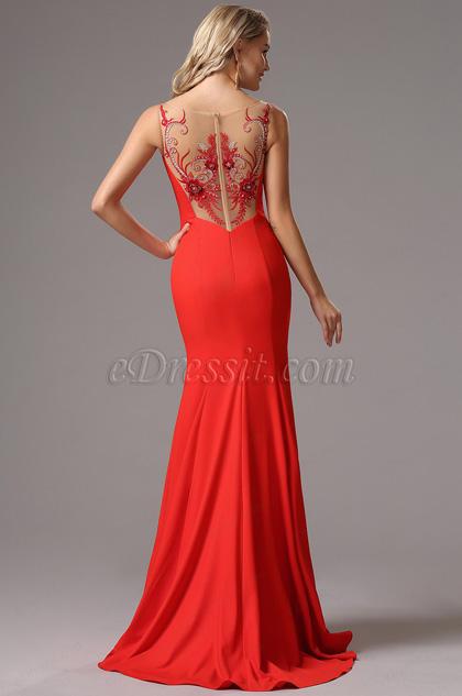 eDressit Red Straps Maxi Prom Evening Dress (00162302)