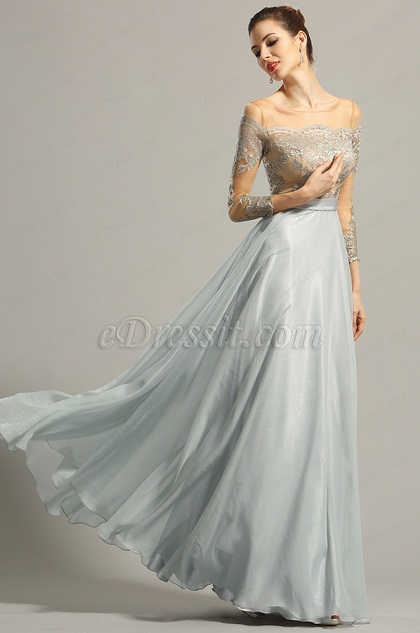 eDressit Long Sleeves Lace Evening Dress Formal Gown (00154332)