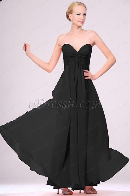 eDressit Strapless Black Evening Dress (H00105701)