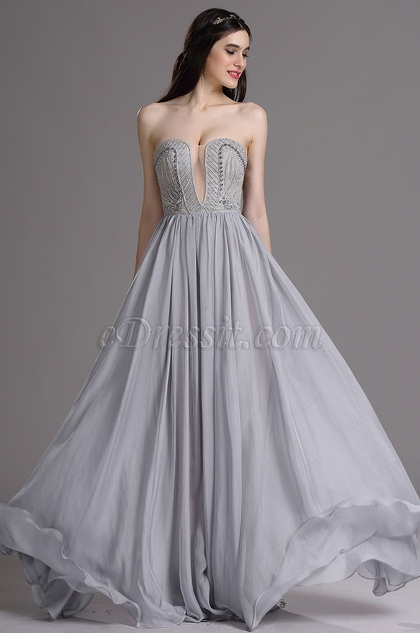 eDressit Sexy Strapless Evening Dress with Embroidery and Beads (00165008)