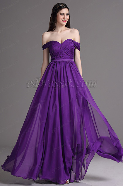 Purple Sweetheart Dress