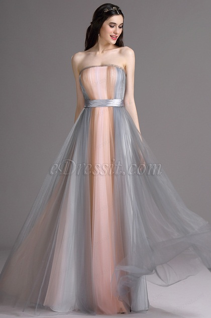 eDressit Elegant Strapless Fitted Summer Bridesmaid Dress (07160756)