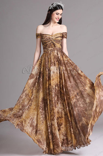 c4492756005b eDressit Off Shoulder Pleated Printed Evening Casual Dress ...