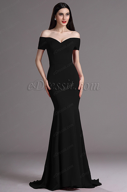 b47cf4448a32 eDressit Elegant Black Off Shoulder Mermaid Formal Dress (00165200)