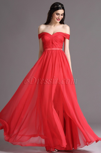 eDressit Off Shoulder Sweetheart High Slit Bridesmaid Formal Dress (00164902)