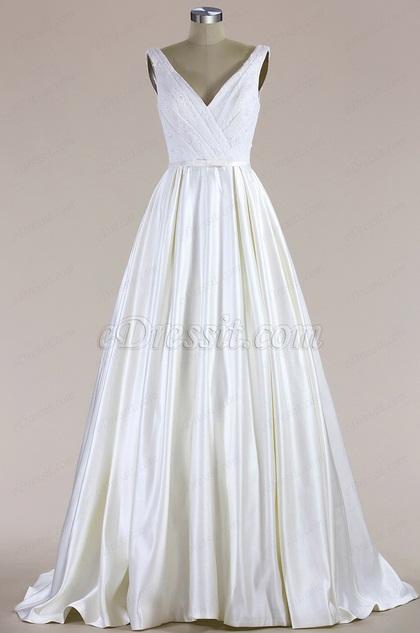 eDressit Sleeveless V Neck Mermaid Wedding Dress (F09616013)