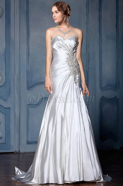 eDressit Strapless Beaded Mermaid Wedding Dress (F04014332)