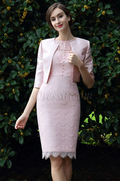 eDressit Pink Two Pieces Mother of the bride Dress (26170901)