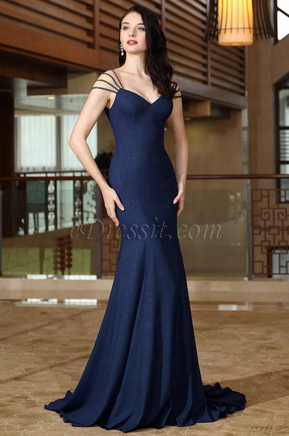 eDressit Beads Chain Cap Sleeves Quinceanera Prom Gown (02171205)