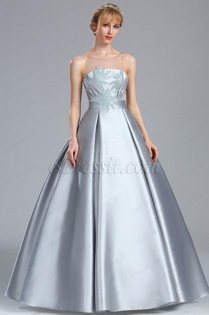 eDressit Grey Sleeveless Sequin Lace Prom Dress (02170408)