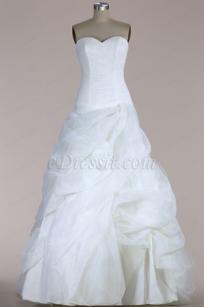 eDressit Strapless A-line Tulle Wedding Dress (F04005517)