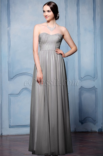 eDressit Grey Sweetheart Neckline Evening Dress (07156708)