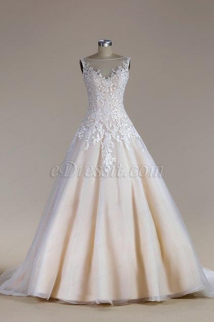 eDressit Sleeveless Tulle Mermaid Wedding Dress(F02020183C)