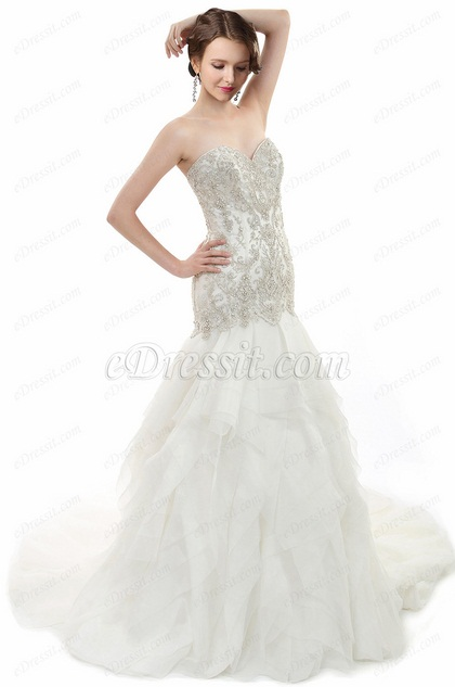 eDressit Sweetheart Tulle Mermaid Wedding Dress (F09047314)