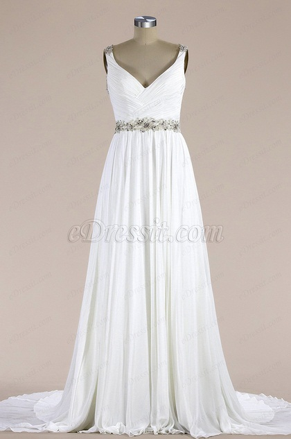 eDressit Sleeveless V Neck Mermaid Wedding Dress (FP06017652)