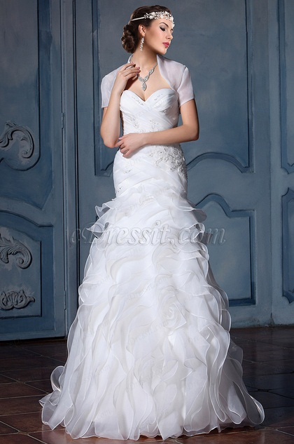 eDressit Fluffy Sweetheart Beaded Bridal Gown (F02011107)
