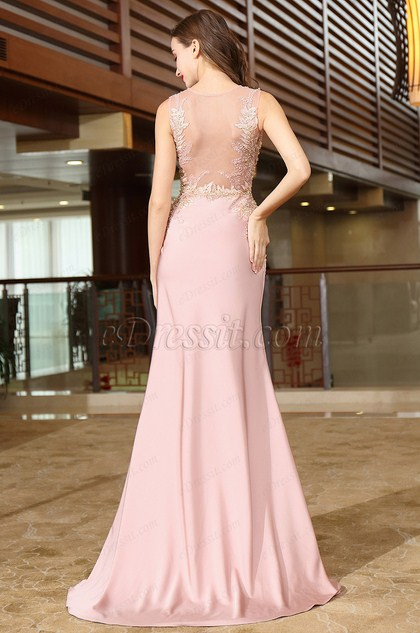 Pink Lace Wedding Guest Dress : Edressit pink lace beaded wedding guests dress