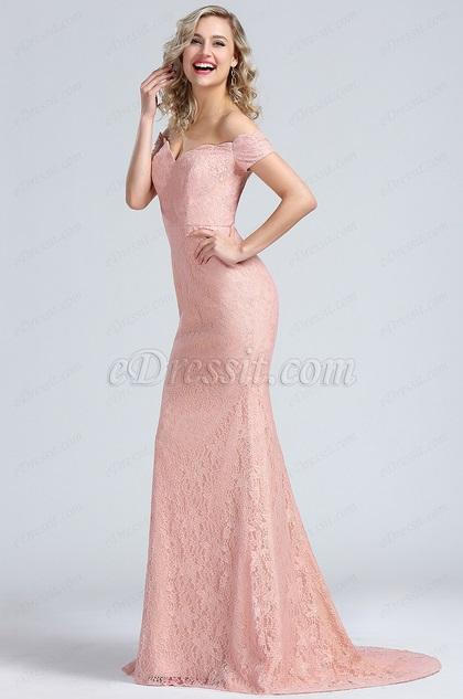 eDressit Elegant Off Shoulder Lace Evening Gown (00171946)