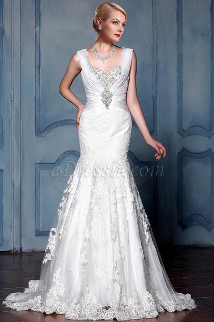 eDressit Sweetheart Lace Mermaid Bridal Gown (F09013612)