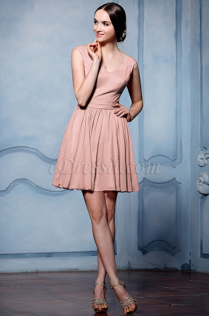 eDressit Simple Small V Cut Cocktail Party Dress (07156446)
