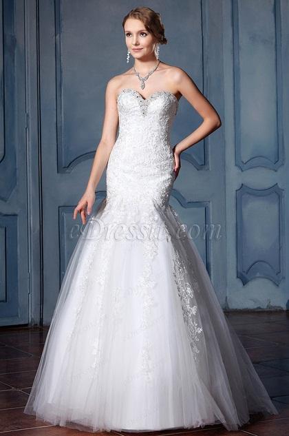 eDressit Sweetheart Beaded Neckline Wedding Dress (F02020025)