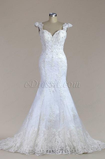eDressit Sweetheart Beaded Lace Mermaid Wedding Dress (F02010023)
