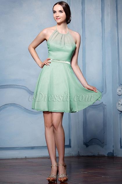 eDressit Green Halter Cocktail Bridesmaid Dress (07156504)