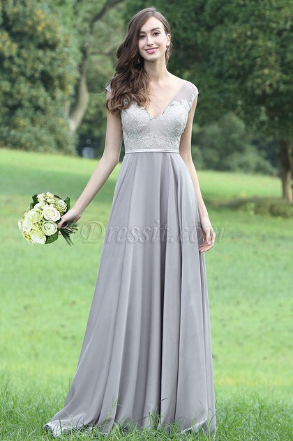 eDressit Latest Grey Sexy Lace Evening Dress (00171008)
