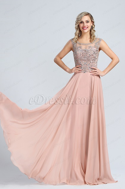 eDressit Elegant Beaded A-line Formal Evening Dress (36173146)