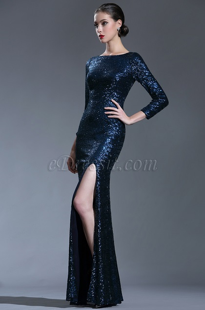 eDressit Sparkly Long Sleeves Sequin Night Dress Ball Gown (02181305)
