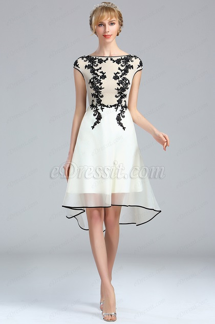 eDressit White Lace Appliques Beaded Evening Dress (04173207)