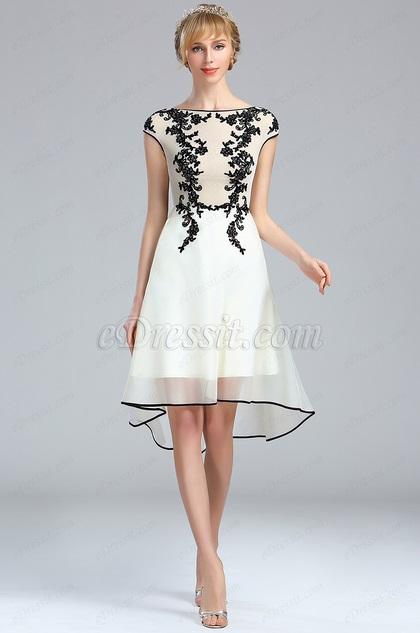 eDressit White Lace Appliques Beaded Evening Dress (04173207)